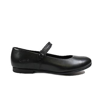 Startrite Florence Black Leather Girls Rip Tape Mary Jane School Shoes