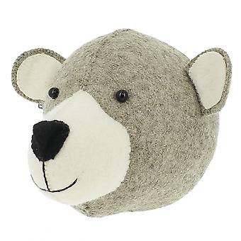 Fiona Walker England Mummy Bear Felt Animal Head Wall Mounted