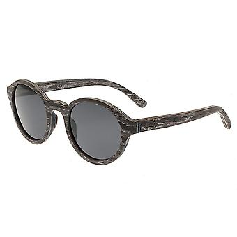 Earth Wood Maho Sunglasses W/Polarized Lenses -, Black Stripe/Black, Size 48/44