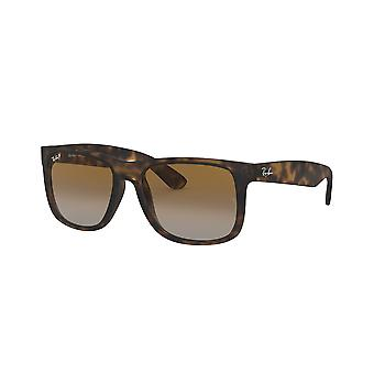 Ray-Ban Justin RB4165 865/T5 Havana Rubber/ Brown Gradient Sunglasses