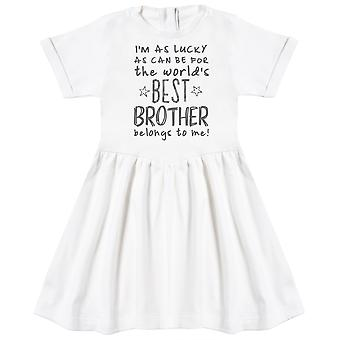 I'm As Lucky As Can Be Best Brother belongs to me! Baby Dress