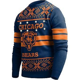 LED Light Up XMAS Knit Sweater - NFL Chicago Bears