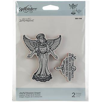 Spellbinders Cling Stamps-Joyful Season Angel