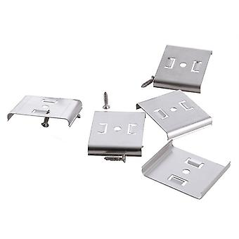 Mounting clips set of 5 set metal for substructure lamp Mia