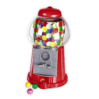 Chewing gum dispenser Gumball Bank red, made of plastic, including 40 chewing gums.