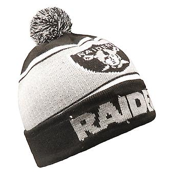LED Winter Hat Bommel Beanie - Oakland Raiders
