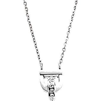 Necklace and pendant Ted Lapidus Sanchez D41099Z - collar steel rhinestone woman