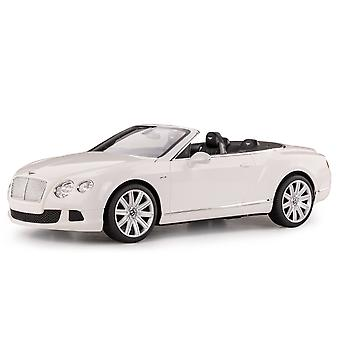 Licensed RC 1:12 Bentley Continental GT Convertible Remote Control Car Toy White