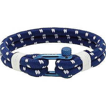 Ratsche B35068613L - Armband blau Nylon Ecru Mann Winde PVD Stahl Armband