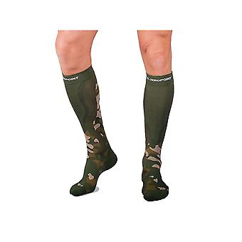 Zero Point Intense Compression Socks [Style ZP11] Green Camo  W1
