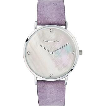 Tamaris - Wristwatch - Anika - DAU 40mm - Silver - Ladies - TW012 - Purple Silver