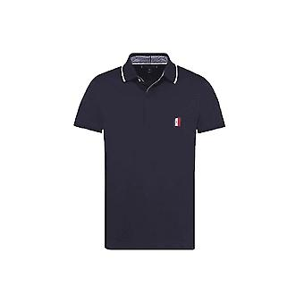 Tommy Hilfiger Men's Tommy Hilfiger Mens Navy Mono Patch Logo Polo