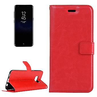 For Samsung Galaxy S8 Case,Elegant Luxury Horse Textured Leather Cover,Red