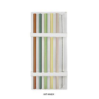 Camdan yapılmış pipetler 5 set renkli, 20 cm dahil fırça 5 içme pipeti, %100 cam, renkli, 20 cm, 1 temizleme fırçası.