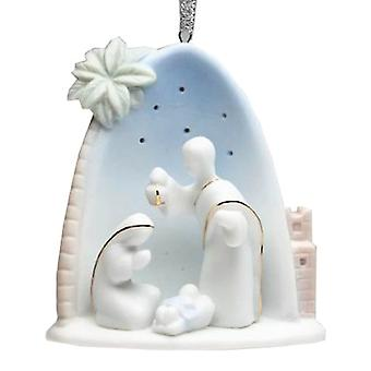 Holy Family Nativity with Palm Tree Christmas Holiday Ornament