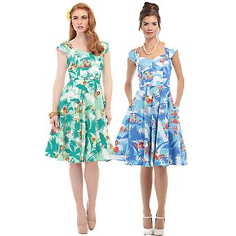 Aida Zak Collectif Women's 1950's Tropical Hawaiian Sandra Dress