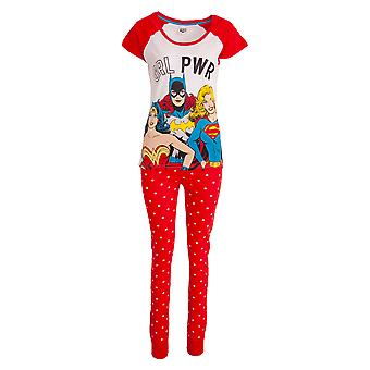 Justice League Womens/Ladies Girl Power Cotton Pyjama Set