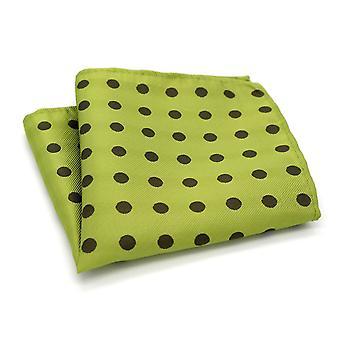 الجير الأخضر والظلام بقعة البولكا نقطة نمط جيب مربع