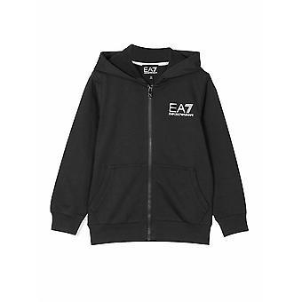 EA7 Junior EA7 Junior Black Logo Hooded Sweatshirt