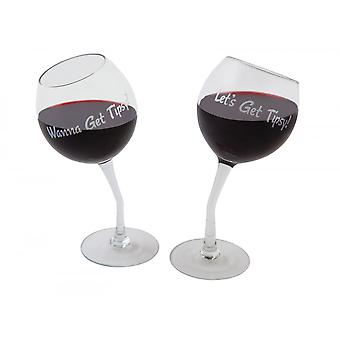BigMouth Inc. Tipsy Wine Glasses Pack