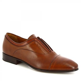 Zapatos Leonardo Hombres's mocasines hechos a mano zapatos de cuero de becerro impresión de cocodrilo