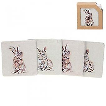 Gisela Graham Ceramic Bunny Coasters