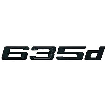 Matt Black BMW 635d Car Badge Emblem Model Numbers Letters For 6 Series E63. E64 F06 F12 F13 G32