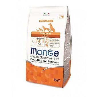 Monge All Breeds Dog Food Adult Duck/Rice/Potato (Dogs , Dog Food , Dry Food)