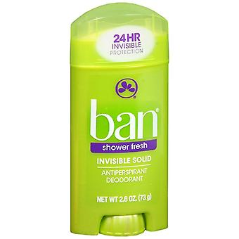 Ban invisible solid, antiperspirant & deodorant, shower fresh, 2.6 oz