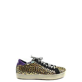 P448 Ezbc283009 Women's Leopard Leather Sneakers
