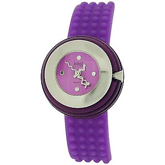 Kool Time Ladies Analogue Spheroid Purple Dial & Silicone Strap Fashion Watch KT014