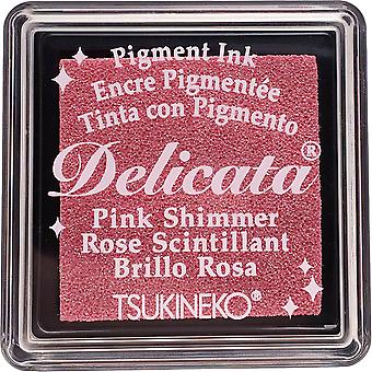 Delicata Small Pigment Ink Pad-Pink Shimmer