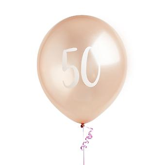 Rose Gold 50th Birthday Balloons Party Décoration
