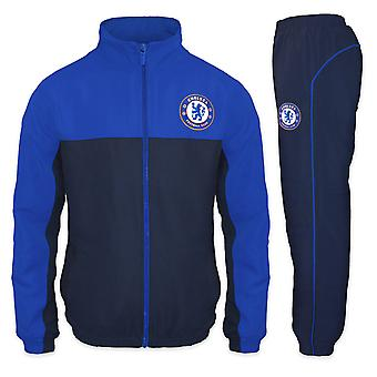 Chelsea FC Official Football Gift Boys Jacket & Pants Tracksuit Set