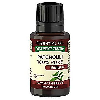 Nature's truth patchouli oscuro, 100% puro, aceite esencial, 0.51 oz