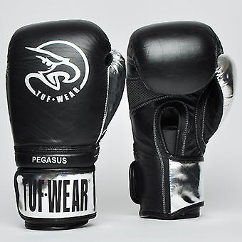 Tuf Porter le gant en cuir Pegasus Noir / Argent
