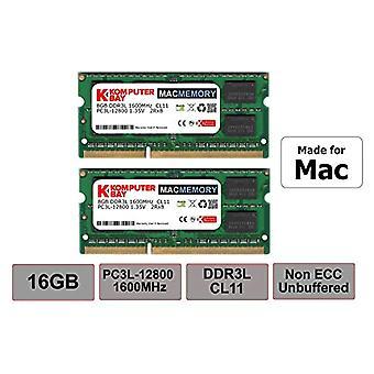 Komputerbay MACMEMORY 16 GB-os készlet (2x8GB) DDR3L 1600MHz PC3L-12800 MAC-kompatibilis SODIMM memória (16 GB-os készlet (2x8GB))