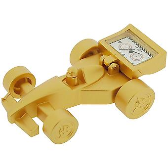 GTP Unisex Novelty Collectors Goldtone Alloy Formula 1 Car Clock  IMP65