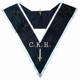 Masonic officer's collar - assr - 30th degree - ckh - deuxième grand juge