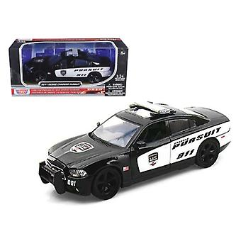 2011 Dodge Charger Pursuit Police 1/24 Diecast Car Modelo por Motormax