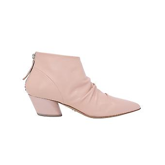 Halmanera Juny12pink Women's Pink Leather Ankle Boots