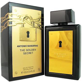 Le secret d'or pour les hommes par antonio banderas 3.4 oz eau de toilette vaporisateur