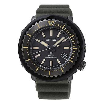 Seiko Watches Sne543p1 Prospex Black & Khaki Green Silicone Diver's Solar Watch