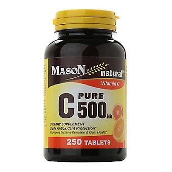 Mason natural pure c 500 mg, tablets, 250 ea