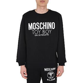 Moschino 170970271555 Men's Sort bomuldsst sweatshirt