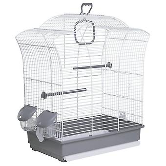 Voltrega White Bird Cage 649 44.5 X 25.5 X 51.5 Cm (Birds , Cages and aviaries , Cages)