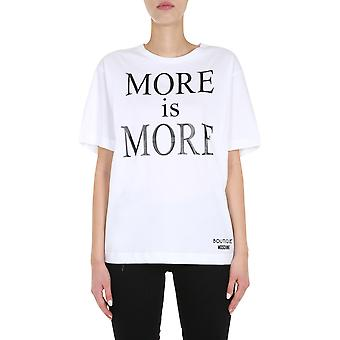 Boutique Moschino 120261403001 Women's White Cotton T-shirt