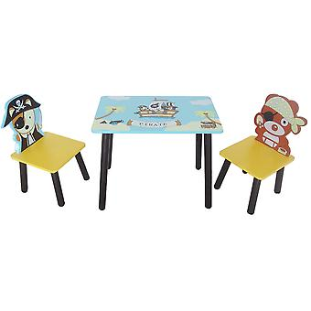 Kiddi Style Table Pirate Et 2 Chaises