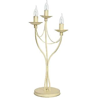 Lampada da Tavolo Lilium Colore Crema in Metallo, L27xP27xA63 cm
