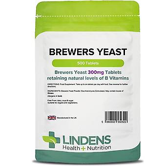 Lindens Brewers Yeast 300mg Tablets 500 (2322)